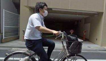 信金マン自転車で走る